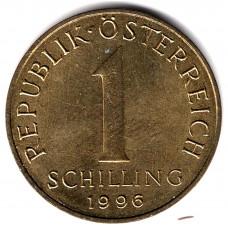 1 шиллинг 1996 Австрия - 1 schilling 1996 Austria, из оборота