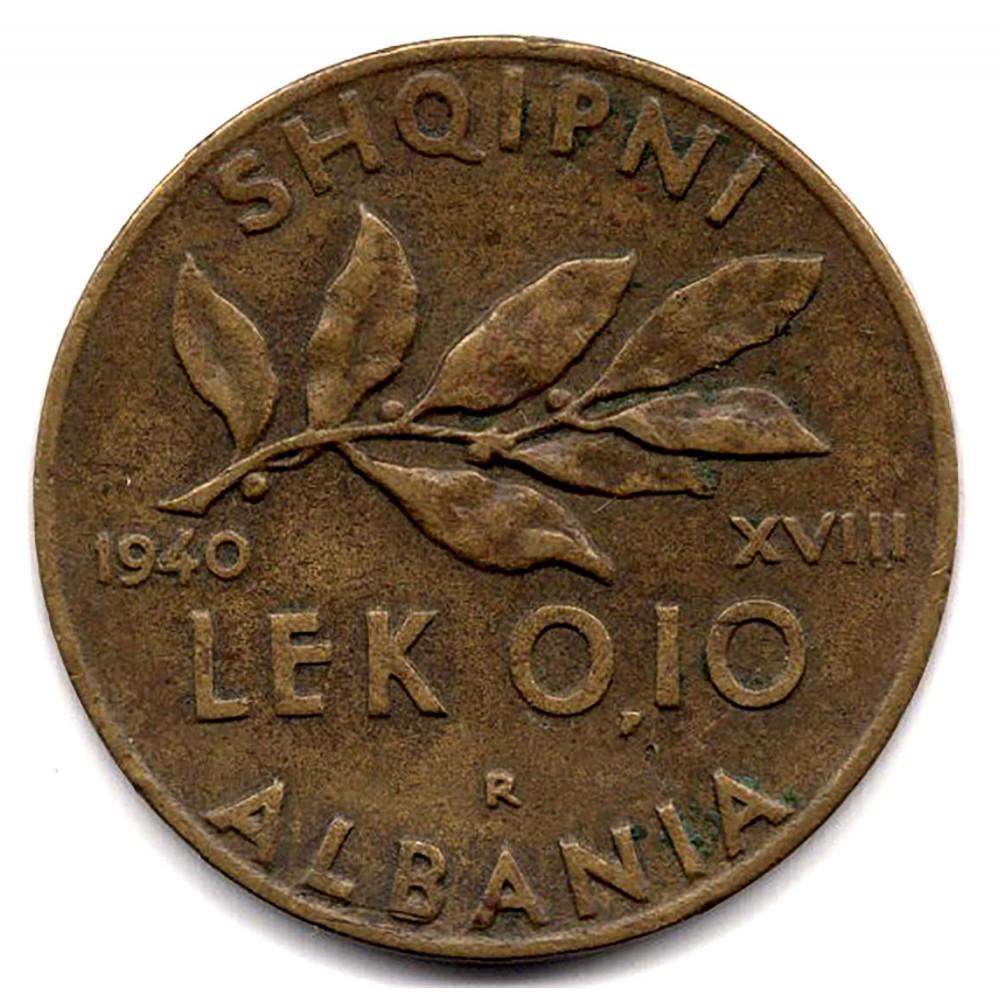 0.1 лек 1940 Албания - 0.1 lek 1940 Albania, из оборота