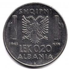 0.2 лек 1941 Албания - 0.2 lek 1941 Albania, из оборота