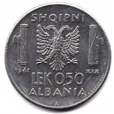 0.5 лек 1941 Албания - 0.5 lek 1941 Albania, из оборота