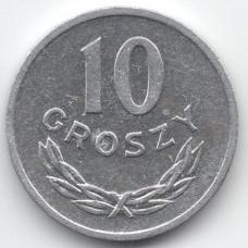 10 грошей 1972 Польша - 10 groszy 1972 Poland, из оборота