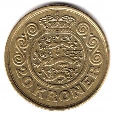 20 крон 1990 Дания - 20 kroner 1990 Denmark, из оборота