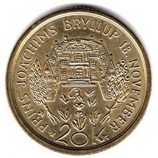 20 крон 1995 Дания - 20 kroner 1995 Denmark, из оборота