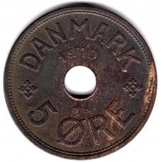 5 эре 1940 Дания - 5 ore 1940 Denmark, из оборота