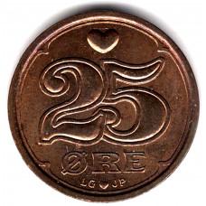 25 эре 1997 Дания - 25 ore 1997 Denmark, из оборота