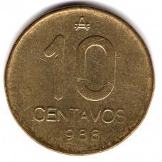10 сентаво 1988 Аргентина - 10 centavo 1988 Argentina, из оборота
