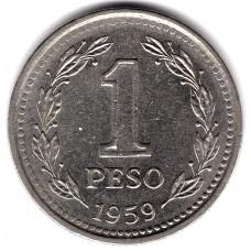 1 песо 1959 Аргентина - 1 peso 1959 Argentina, из оборота