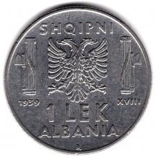 1 лек 1939 Албания - 1 lek 1939 Albania, из оборота