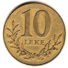 10 лек 1996 Албания - 10 lek 1996 Albania, из оборота