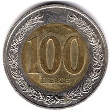 100 леков 2000 Албания - 100 leks 2000 Albania, из оборота
