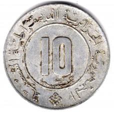 10 сантимов 1984 Алжир - 10 centimes 1984 Algeria, из оборота