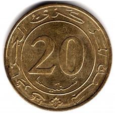 20 сантимов 1987 Алжир - 20 centimes 1987 Algeria, из оборота
