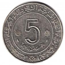 5 динаров 1974 Алжир - 5 dinars 1974 Algeria, из оборота