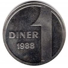 1 динер 1988 Андорра - 1 diner 1988 Andorra, из оборота