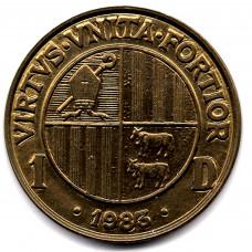 1 динер 1983 Андорра - 1 diner 1983 Andorra, из оборота