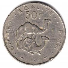 50 франков 1989 Джибути - 50 francs 1989 Djibouti, из оборота