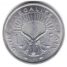 1 франк 1977 Джибути - 1 franc 1977 Djibouti, из оборота