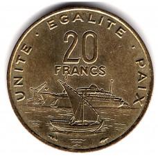 20 франков 1991 Джибути - 20 francs 1991 Djibouti из оборота