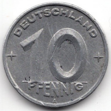 10 пфеннигов 1948 Германия (ГДР) - 10 pfennig 1948 Germany (GDR), А, из оборота