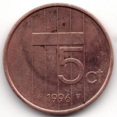 5 центов 1996 Нидерланды - 5 cents 1996 Netherlands, из оборота