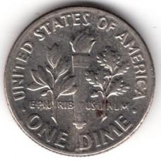 1 дайм 1976 США - 1 dime 1976 USA, из оборота
