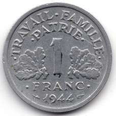 1 франк 1944 Франция - 1 franc 1944 France, из оборота