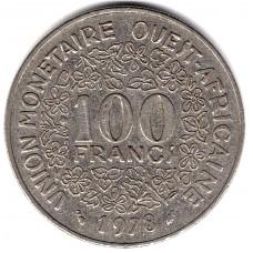 100 франков 1978 Западная Африка - 100 francs 1978 West Africa, из оборота