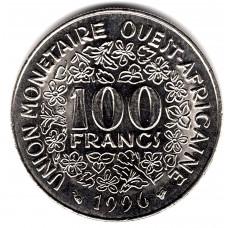 100 франков 1996 Западная Африка - 100 francs 1996 West Africa, из оборота