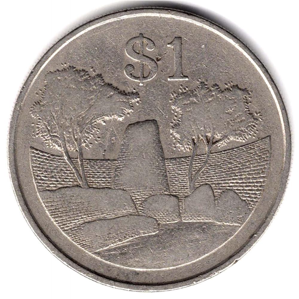 1 доллар 1980 Зимбабве - 1 dollar 1980 Zimbabwe, из оборота