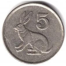 5 центов 1996 Зимбабве - 5 cents 1996 Zimbabwe, из оборота