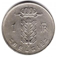 1 франк 1957 Бельгия - 1 franc 1957 Belgium, BELGIE, из оборота