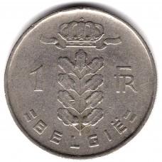 1 франк 1952 Бельгия - 1 franc 1952 Belgium, BELGIE, из оборота