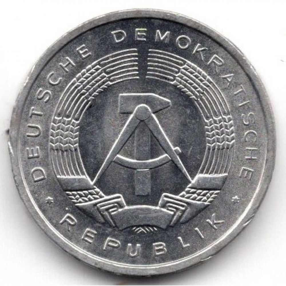 1 пфенниг 1980 Германия (ГДР) - 1 pfennig 1980 Germany (GDR), из оборота