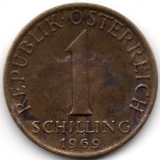 1 шиллинг 1969 Австрия - 1 schilling 1969 Austria, из оборота