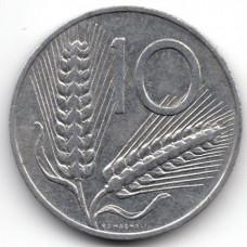 10 лир 1980 Италия - 10 lire 1980 Italy, из оборота