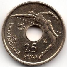 25 песет 1990 Испания - 25 pesetas 1990 Spain, из оборота