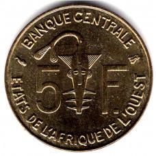 5 франков 1996 Западная Африка - 5 francs 1996 West Africa, из оборота