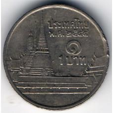 1 бат 2001 Таиланд - 1 baht 2001 Thailand, из оборота