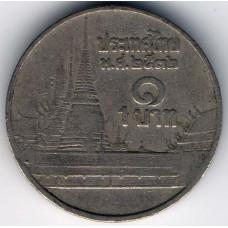 1 бат 1989 Таиланд - 1 baht 1989 Thailand, из оборота