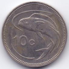 10 центов 1992 Мальта - 10 cents 1992 Malta, из оборота