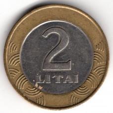 2 лита 1999 Литва - 2 litas 1999 Lithuania, из оборота