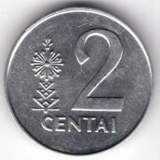 2 цента 1991 Литва - 2 centas 1991 Lithuania, из оборота