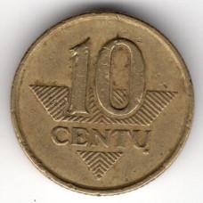 10 центов 1997 Литва - 10 centas 1997 Lithuania, из оборота