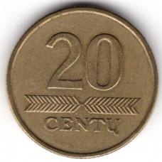 20 центов 1997 Литва - 20 centas 1997 Lithuania, из оборота