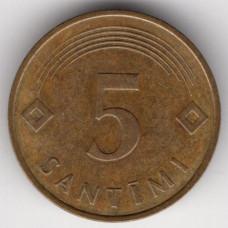 5 сантимов 1992 Латвия - 5 santimi 1992 Latvia, из оборота