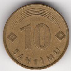 10 сантимов 1992 Латвия - 10 santimi 1992 Latvia, из оборота