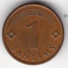 1 сантим 1997 Латвия - 1 santims 1997 Latvia, из оборота