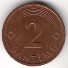 2 сантима 1992 Латвия - 2 santimi 1992 Latvia, из оборота