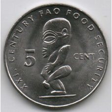 5 центов 2000 Острова Кука - 5 cent 2000 Cook Islands, из оборота