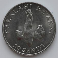 20 сенити 1981 Тонга - 20 seniti 1981 Tonga, из оборота